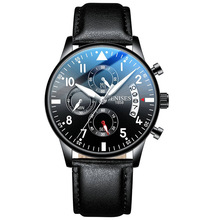 Jenises Luxury Brand Waterproof Business Quartz Watch Men Top 6 Points Luminous Mens Casual Watches Hot Clock Man