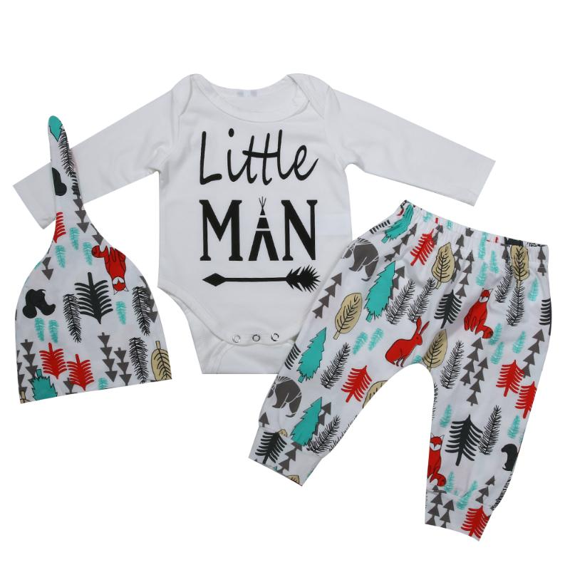 3pcs Toddler Kids Autumn Winter Clothes Baby Boys Girls Long Sleeve Romper Top+Pants Trouser+Hat Soft Cotton Newborn Baby Sets puseky 2017 infant romper baby boys girls jumpsuit newborn bebe clothing hooded toddler baby clothes cute panda romper costumes