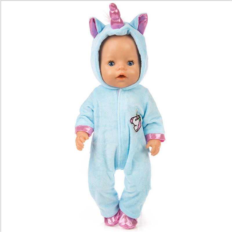Image 4 - Fit 18 inch 43cm Doll Clothes Born Baby Unicorn Kitten and Pony Doll Clothes Suit For Baby Birthday Festival Gift-in Dolls Accessories from Toys & Hobbies