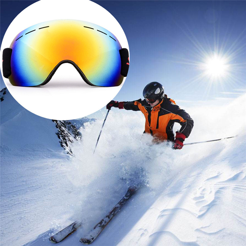 Di Alta Qualità Nuovo Stile Unisex Snowboard Occhiali Da Sci Sci Marcia Sport Fresco Adulto Occhiali Anti-fog Anti-uv Doppia Lente #4ap05 Prima Qualità