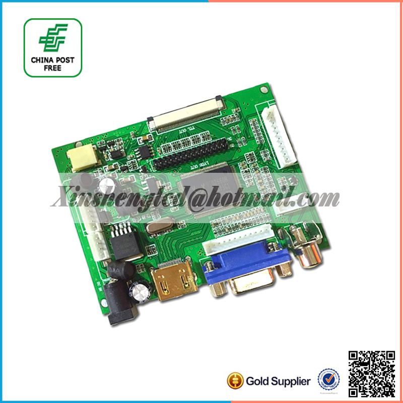 LCD Display TTL LVDS Controller Board HDMI VGA 2AV 7 for 1280*800 N070ICG-LD1/LD4 IPS LCD Support Automatically VS-TY2662-V1