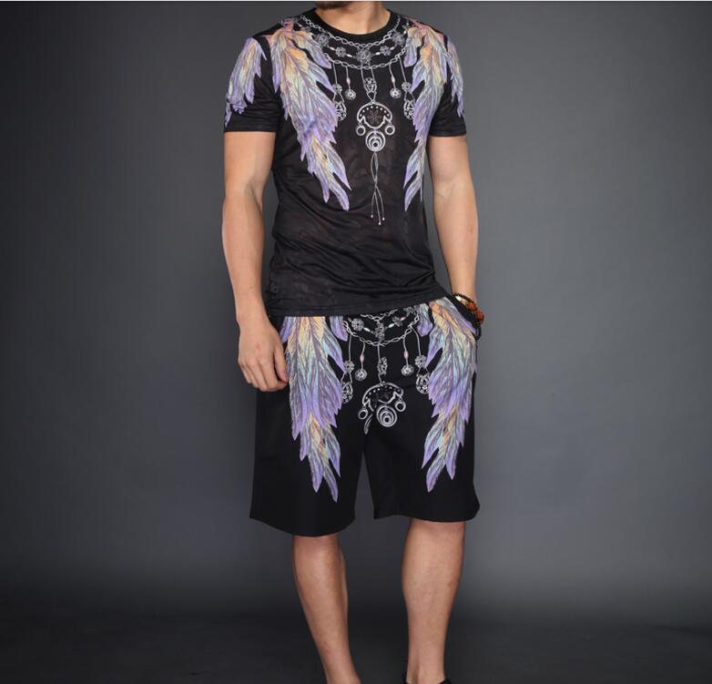 Fitness survêtement été costume hommes 2018 nouveau design homme ensemble - 4