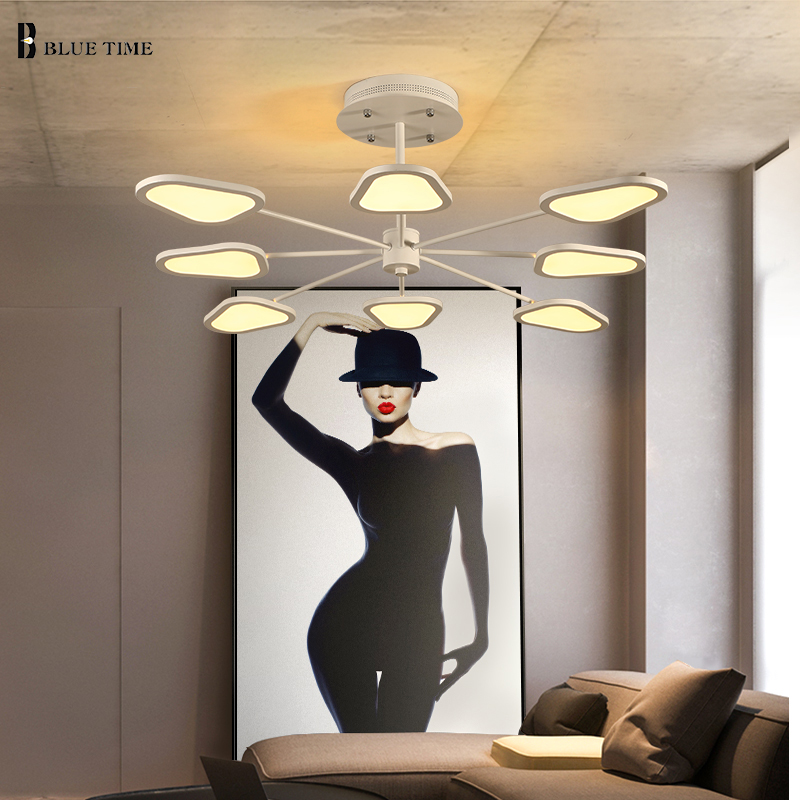 Modern LED pendant lights for living room bedroom White Simple Plafon led pendant lamp indoor home lighting fixtures AC110V 220V