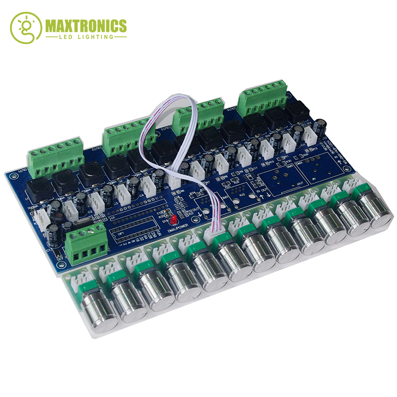 New 1 pcs 350ma constant current 12 channel DMX512 decoder Constant current DC5V-36V 350MA*12CH led dimmer Free shipping 350ma constant current 12ch dmx dimmer 12 channel dmx 512 dimmer drive led dmx512 decoder rj45 xrl 3p