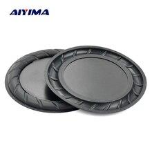 Aiyima 2 pc 90mm 64mm 고무 수동 라디에이터 스피커베이스 진동 멤브레인 다이어프램 보조 서브 우퍼 diy