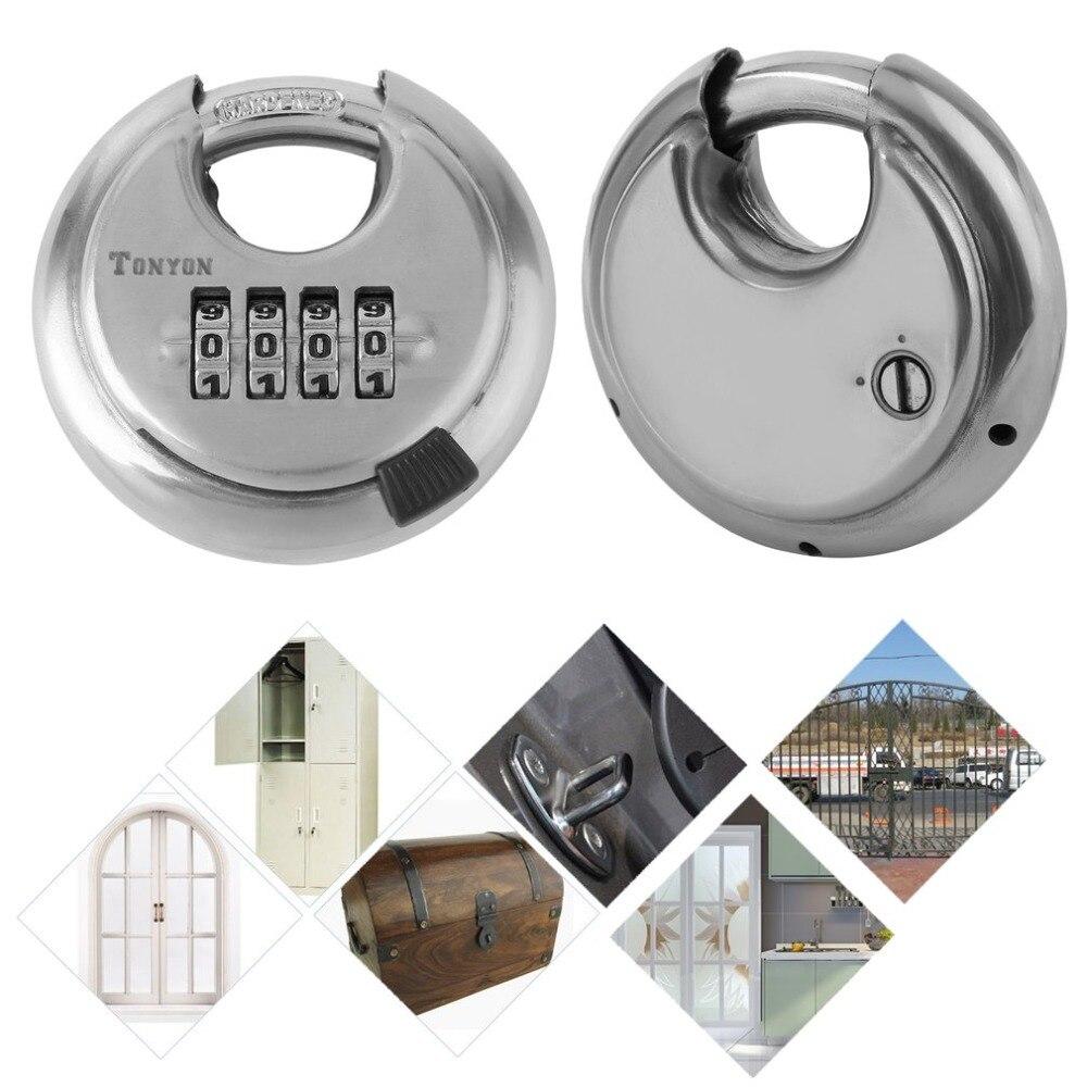 Stainless Steel Security Master Round Shape 4 Digit Numerical Padlock Hanging Pendant Password Combination Disc Lock кеды coco perla coco perla co039awhmj96