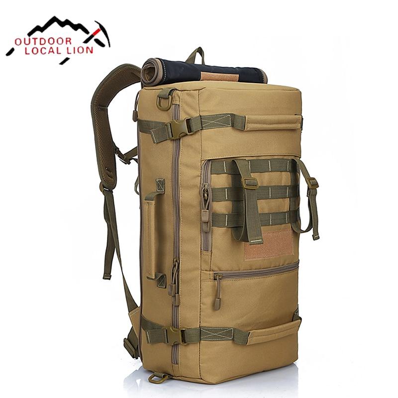 LOCAL LION 50L Military Tactical Backpack Molle Nylon Waterproof <font><b>Bag</b></font> Tactical Mountaineer <font><b>Bag</b></font> Men Hiking Rucksack Army Backpack