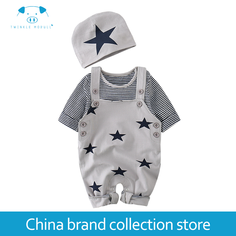 Baby Rompers Autumn Newborn Boy Girl Clothes Set Baby Fashion Infant Baby Brand Products Clothing Bebe Newborn Romper MD150Q10 2pcs set baby clothes set boy