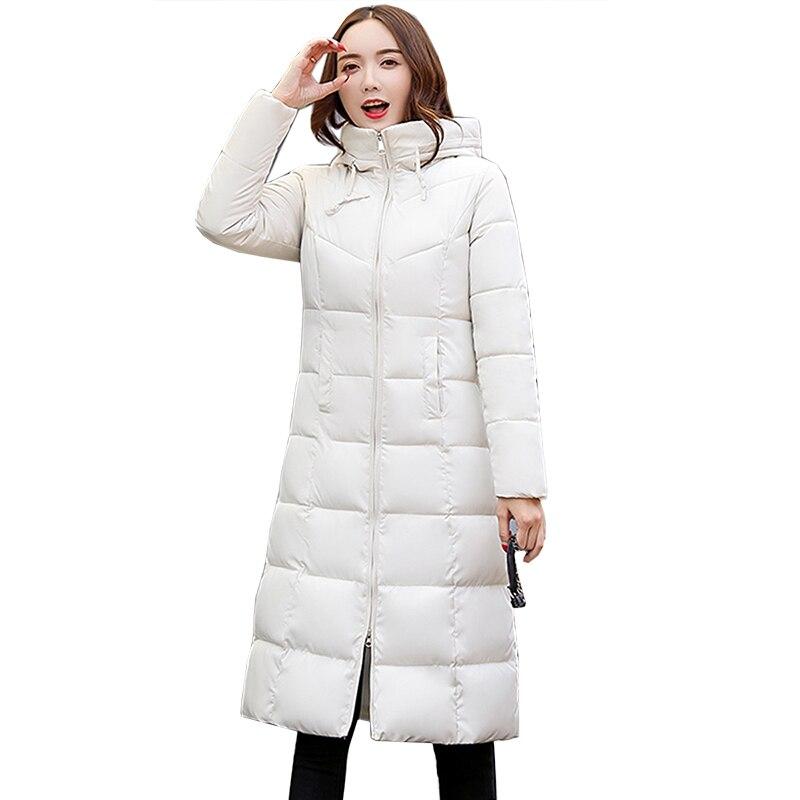 2018 New Plus Size Winter Women Jacket Coats Hooded Warm Winter   Parka   Jackets Long Thicken Down Cotton Jacket Women   parkas   mujer