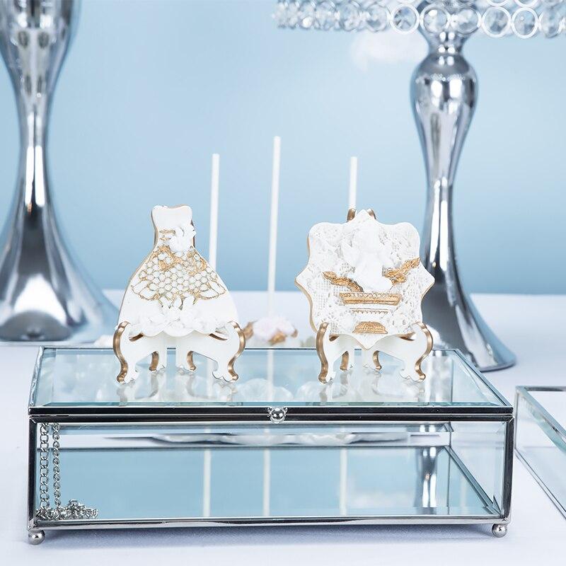 Серебряная Европейская Свадебная подставка для десерта украшения торт полка торт лоток десерт инвентарь сердце фруктовая тарелка - 4
