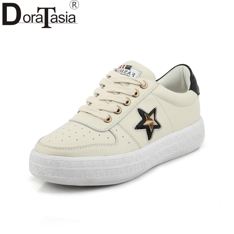 2018 new top quality dropship wholesale genuine leather shoes women fashion casual shoes sneakers flats new dji top