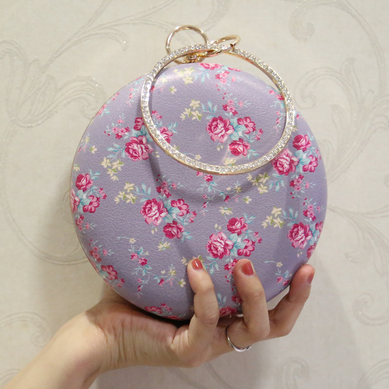 цена на 2018 new evening clutch bag with florals and diamonds, single shoulder bag, messenger bag
