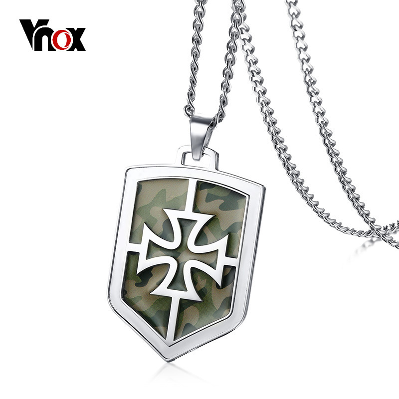 Vnox army camouflage knights templar cross pendant for men necklace vnox army camouflage knights templar cross pendant for men necklace stainless steel casual religion male jewelry 24 chain in pendant necklaces from jewelry aloadofball Image collections