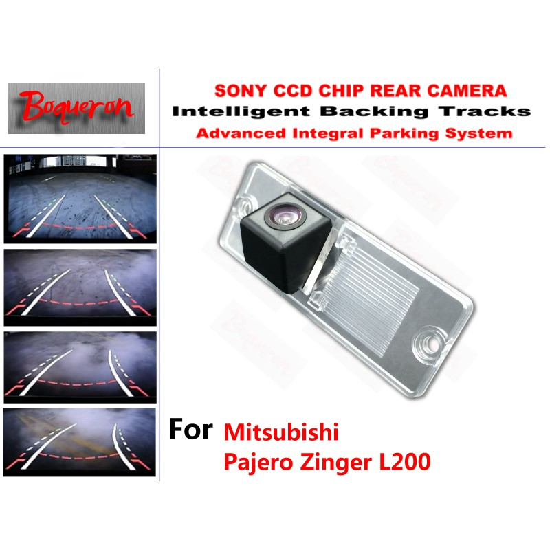 for Mitsubishi Pajero Zinger L200 CCD Car Backup Parking Camera Intelligent Tracks Dynamic Guidance Rear View Camera black plastic shell car reserve camera auto wire 5 car rear camera adapt for mitsubishi pajero zinger l200 v3 v93 v5 v6 v8 v97