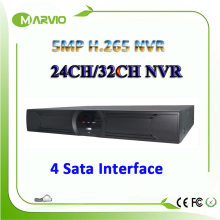 New H.265/H.264 24ch / 32ch channel 5MP NVR Network IP Camera Video Surveillance Recorder Max 4K HIMI Output Onvif  4 Sata Ports