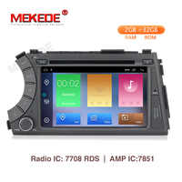 MEKEDE 2din HD 1024X600 Quad Core 4 Android 9.1 2G RAM voiture DVD pour Ssang Yong SsangYong Kyron Actyon 2005-2013 GPS Radio stéréo