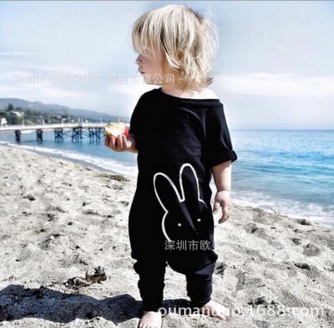 Ropa de Alta calidad ropa de bebé bebe Carter baby girl boy ropa unisex del verano del bebé arropa los sistemas de Dibujos Animados conejo Del Bebé Del Mameluco