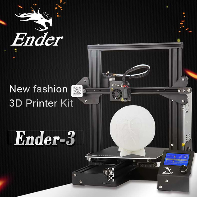 Creality 3D Ender 3 High-precision DIY 3D Printer Self-assemble 220 * 220 * 250mm Printing Size with Resume Printing Function