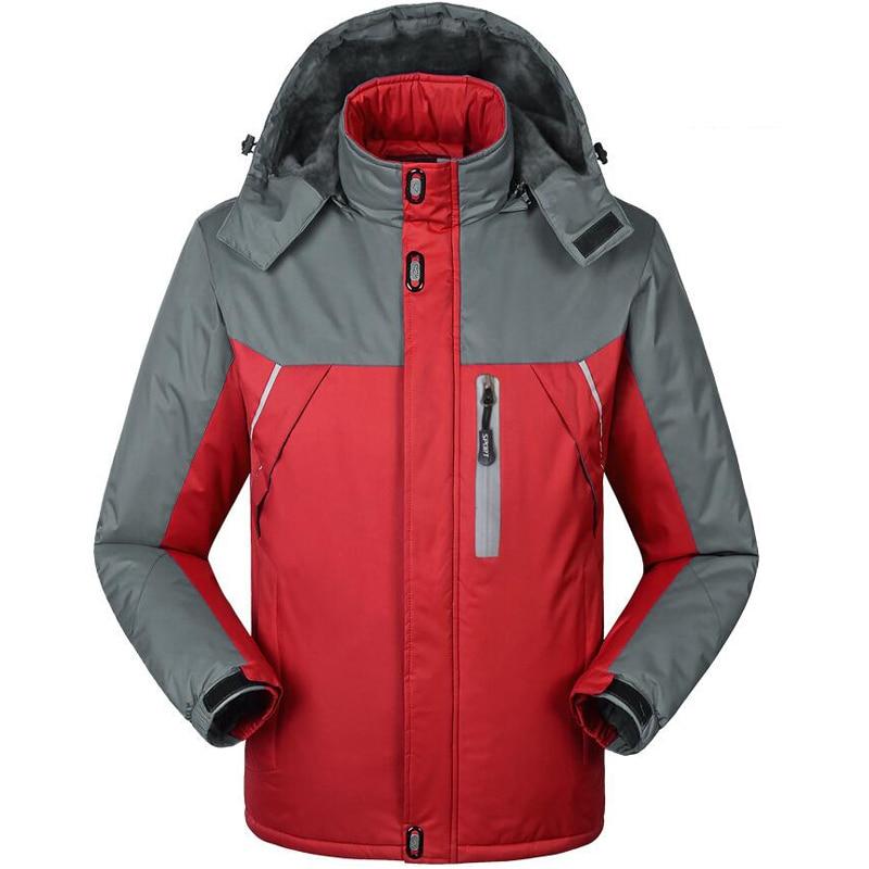 Winter Thicken Coat Men Outwear Jackets Waterproof Windproof Fleece Warm Climb Mountain Jacket Mens Windbreaker Hooded Parkas