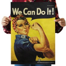 Мы можем сделать это оберточная бумага в винтажном стиле постер для декорации дома художественные журналы классические ретро-плакаты и принты