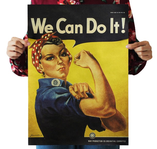 We Can Do It Vintage Kraft Paper Poster Home Decoration  Art Magazines Classic Retro Posters Retro Posters And Prints