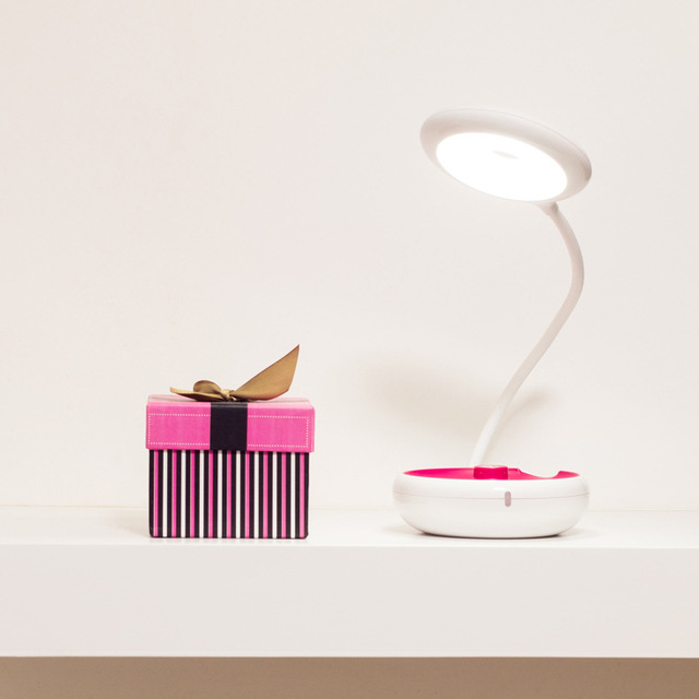 NOVA Multifuncional portátil LED desk lamp night light flashlightg 3-em-1 concise Aprendizagem candeeiro de mesa 5 V 500 mah, luz de leitura