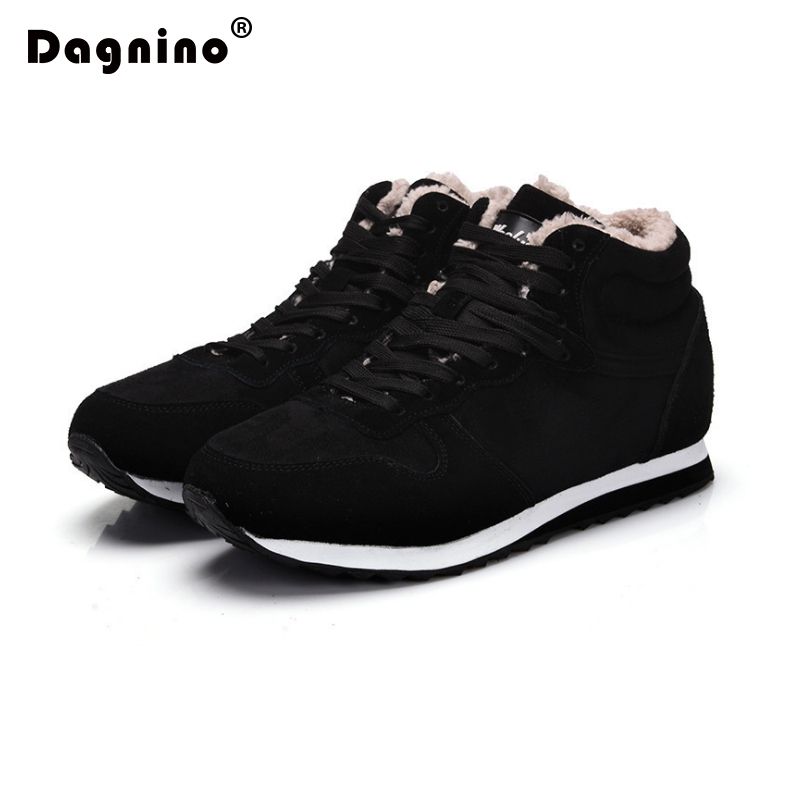 DAGNINO Lovers 2017 Fashion Suede Women Winter Casual Shoes Woman Keep Warm Plush Ankle Work Snow Boots Female Big Size 35-48 2017 cow suede genuine leather female boots all season winter short plush to keep warm ankle boot solid snow boot bota feminina