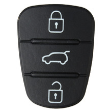 New 3 Button Remote Key Fob Case Rubber Pad For Hyundai I10 I20 I30 Flip Key Key Shell Case for Car