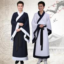 2018 new black white red national ancient chinese hanfu clothing traditional costume men