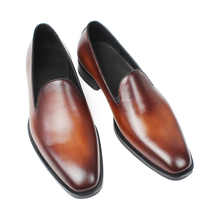 VIKEDUO Summer Fashion Loafers Shoes Solid Genuine Leather Men's Shoe Classic Vintage Male Zapatos Wedding Office Sapato Hombre