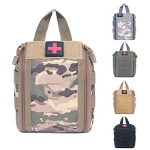 Tactical Molle Medical Kit Pouch Emergency Survival Gear Bag First Aid Kit Pouch Tool EDC Hunting Utility Belt Bag Professional 1000d molle tactical first aid kits utility medical accessory bag outdoor hunting hiking survival modular medic bag pouch