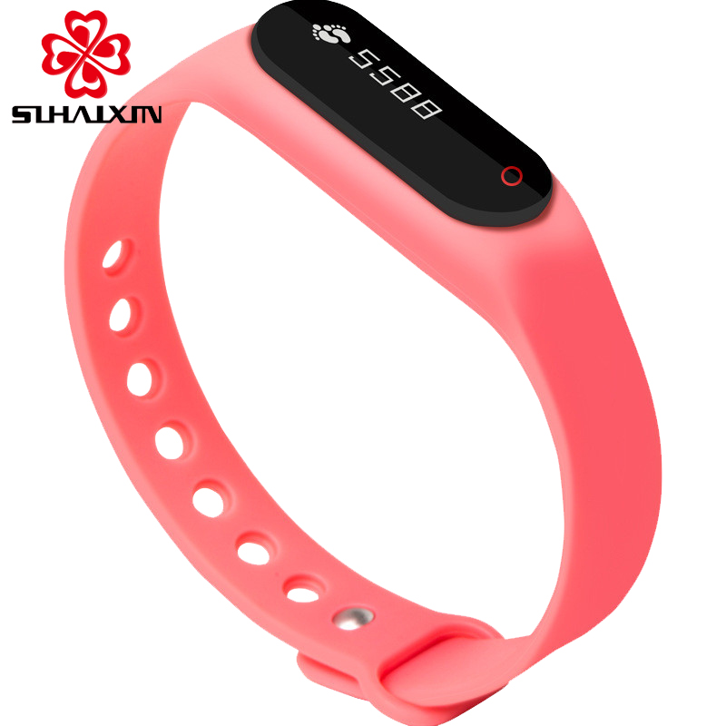 Intelligent Outdoor Bracelet Reminder Call Message Heart Rate Fashion Sport Led Watch Men Women Watches 6 Colors Wrist Watch wireless service call bell system popular in restaurant ce passed 433 92mhz full equipment watch pager 1 watch 7 call button