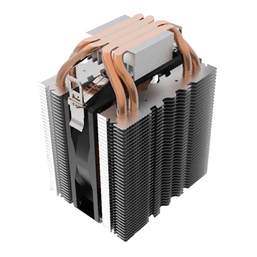 4*copper pipe cooling Blue LED light Hydraulic Bearing Quiet 3pin CPU Cooler Fan Heatsink for Intel Core i7/i5/i3