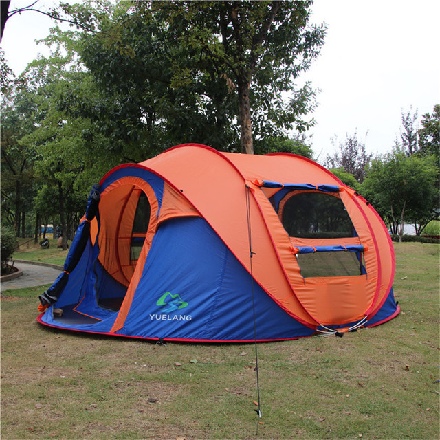 Pastoral Life New Large spece outdoor 3-4 persons automatic pop up tent windproof beach & Pastoral Life New Large spece outdoor 3 4 persons automatic pop up ...