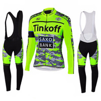 Tinkoff 2016 Pro Team Long Sleeve Cycling Jersey Racing Bike Clothing MTB Bicycle Clothes Wear Ropa