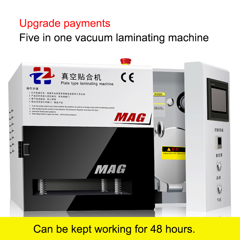 1pc Newest five-in-one MAG OCA vacuum lamination machine with built-in bubble remove machine for 7 inch screen