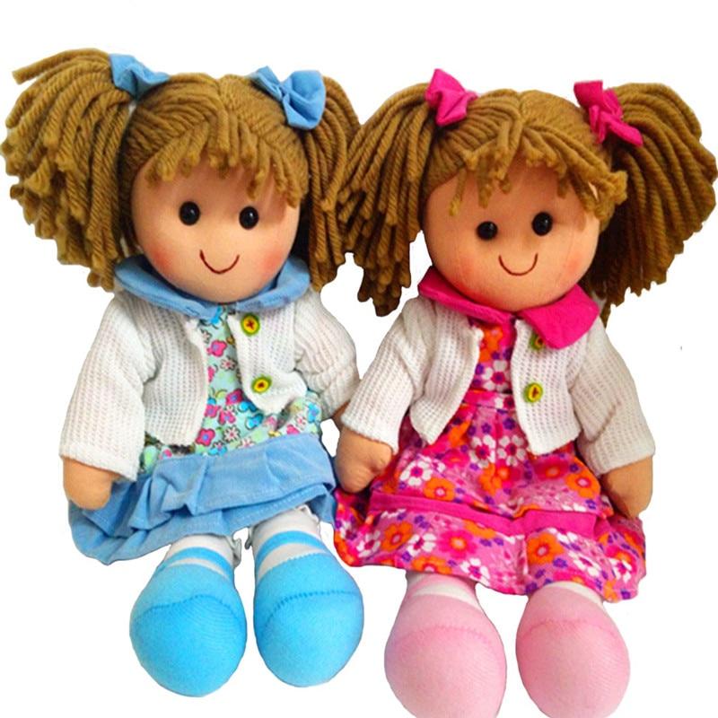 التوائم الفتيات دمية دمية طفل لعبة لينة للأطفال الأحمر والأزرق الألوان القماش دمية سهلة أقلعت ، آلة قابل للغسل