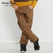 Довольно тигровый мальчика новое поступление теплый хаки с вельвет джинсы BC-54K233