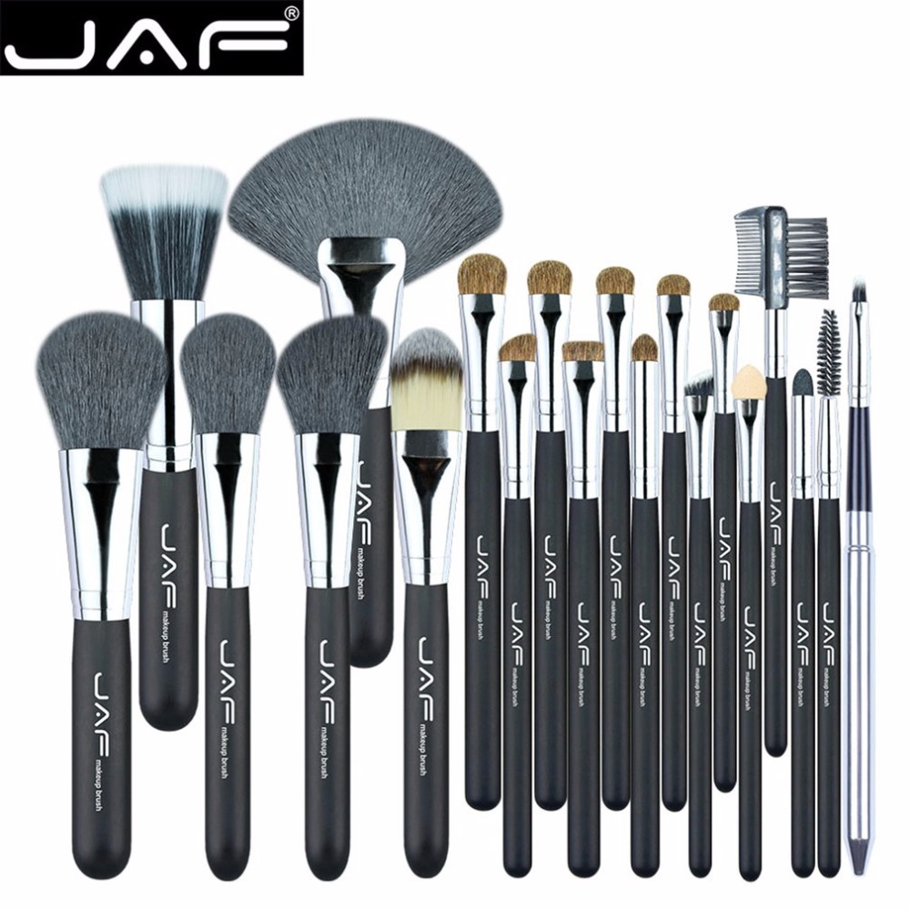 цена на JAF 20PCS/SET Makeup Brushes Set Blending Hair Blusher Eyeshadow Powder Foundation Makeup Cosmetic Brush Tool Kit 2018 Hot New