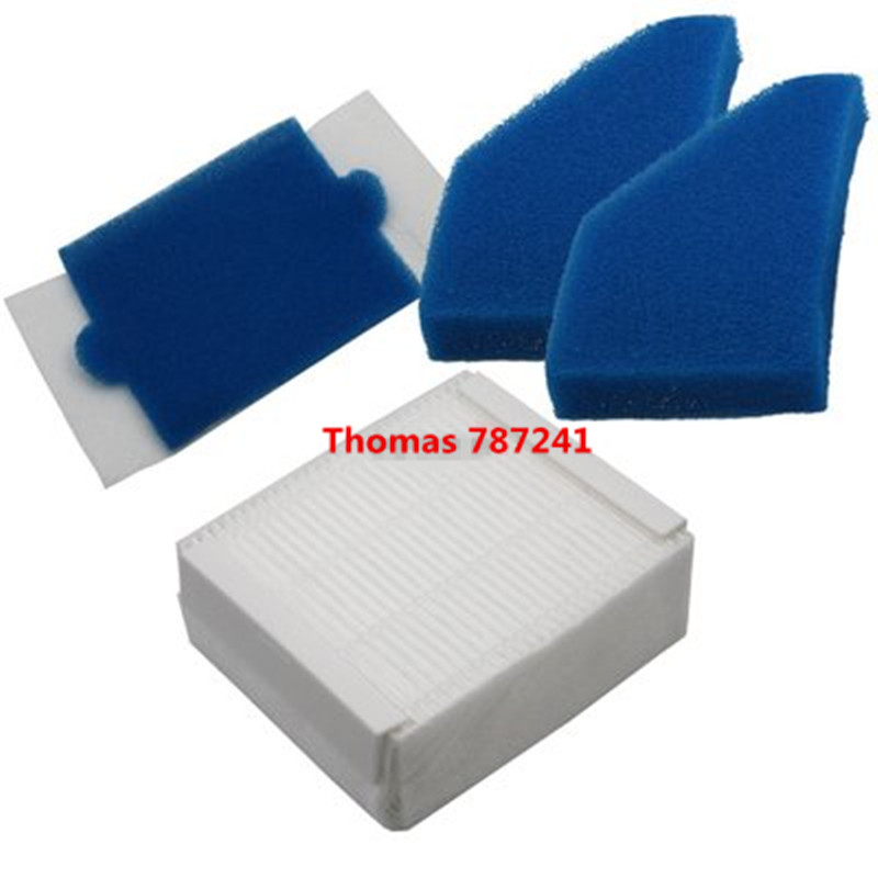 5pcs/1 Set Thomas 787241 Hepa Filter for Thomas 787241, 787 241, 99 Vacuum Cleaner Parts Foam Filter Replace skymen 1 set foam and felt filter vacuum cleaner filtering spare part for thomas 787241 vacuum cleaner accessories replacement