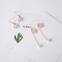 Japonia pearl kwiat wiśni kolczyki długie kolczyki proste temperament pearl kolczyki kolczyki 386 brzoskwinia
