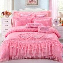 Princess Silk Satin embroidered jacquard wedding home textile,duvet cover,Romantic bedding, bed line bed sheet housse de couette