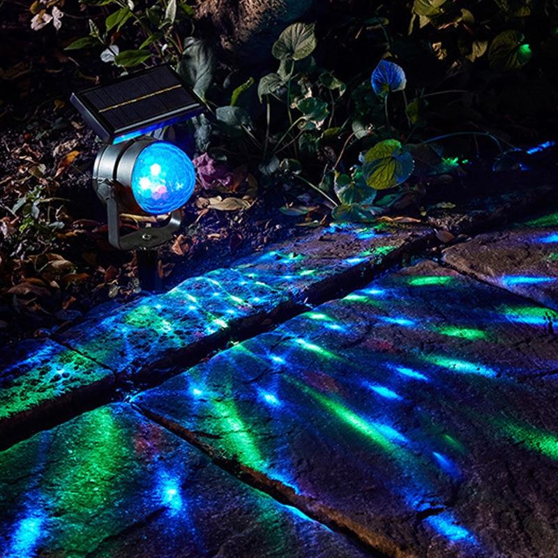 LED Rotate Solar Projector Lawn Lamp IP55 Waterproof 6V Floor Spot Light Garden Outdoor Lighting Decoration Yard Path Landscape outdoor solar lamp ip44 waterproof park garden decoration landscape light courtyard path lighting solar lawn lamp