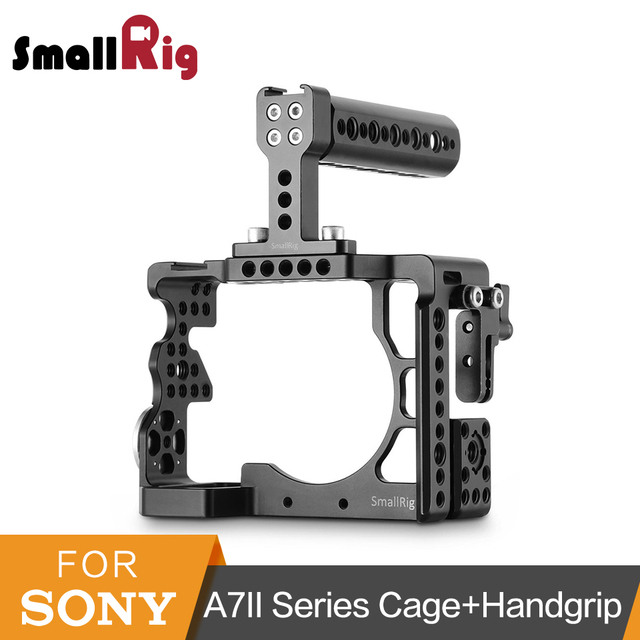 SmallRig A7ii Protective Cage For Sony A7II/ A7RII/ A7SII Camera Cage With Top Handle ARRI Rosette Mount Accessory Kit -2014