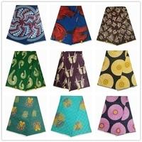 High quality jacquard batik fabric 100% cotton soft bazin fabrics 6 yards/pcs guarantee african real print fabric for party
