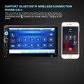 7010B 2 Din 7 Pulgadas Bluetooth de Radio Video del Coche MP5 Jugador Pantalla Táctil de la ayuda FM USB MMC AUX Manos Libres de Audio Del Coche MP5 jugador