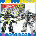 754 шт. Бела 2016 10399 Ninja Titan Мех Битва Модель Строительство Комплект Ниндзя Действий Совместимо с Lego