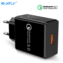 RAXFLY USB Phone Charger For iPhone Quick Charge 3.0 For Samsung Note 9 8 18W Wall Travel Fast Charger For Huawei P20 Pro Phone