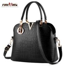 FIREBIRD Women Famous brand designer Luxury leather handbags women messenger bag Ladies crocodile pattern Shoulder bag Crossbody