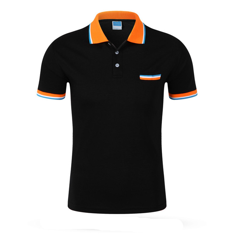 2016 New Top Quality Mens Polo Shirt Brands Cotton Short-sleeve Man's Pocket Turn-down Collar Polos Tees Size - Free Shipping